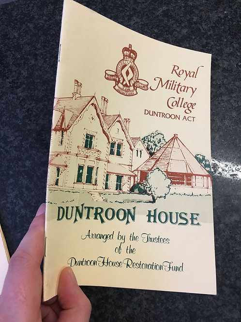 Duntroon House pamphlet