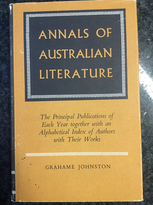 Annals of Australian Literature byGrahame Johnston
