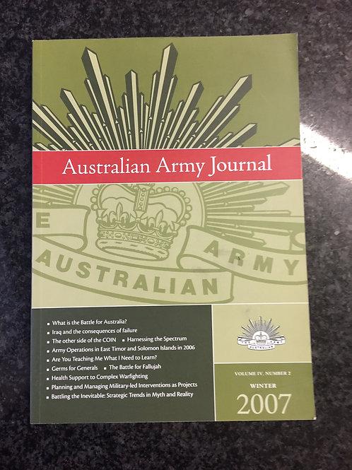 Australian Army Journal Winter 2007, Volume IV Number 2