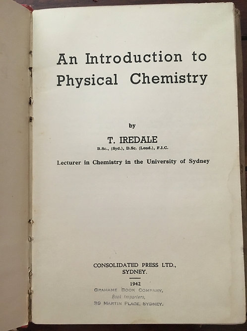 An Introduction to Physical Chemistry by Iredale