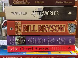 Weird and wacky books on the shelf...