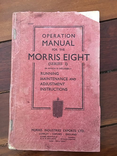 Operation Manual for the Morris Eight (Series 1)