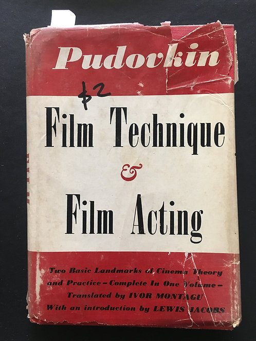Film Technique & Film Acting by Pudovkin