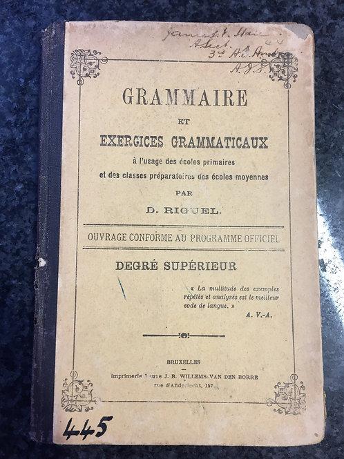 Grammaire et exercices grammaticaux by D. Riguel
