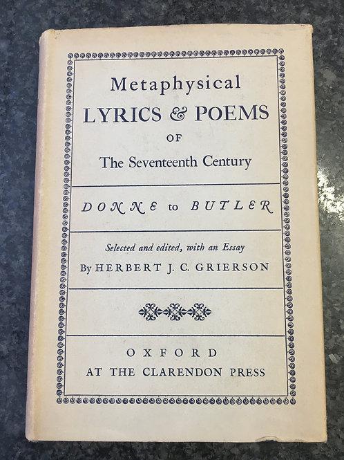 Metaphysical Lyrics & Poems of the Seventeenth Century ed.Grierson