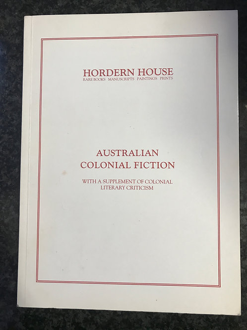 Australian Colonial Fiction, Hordern House