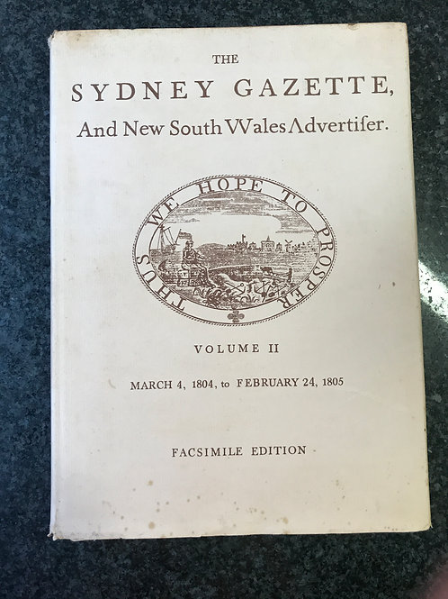 The Sydney Gazette and New South Wales Advertiser Volume II