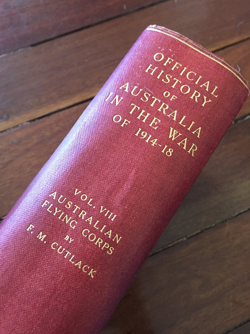 Official History of Australia in the War of 1914-18, Vol VIII