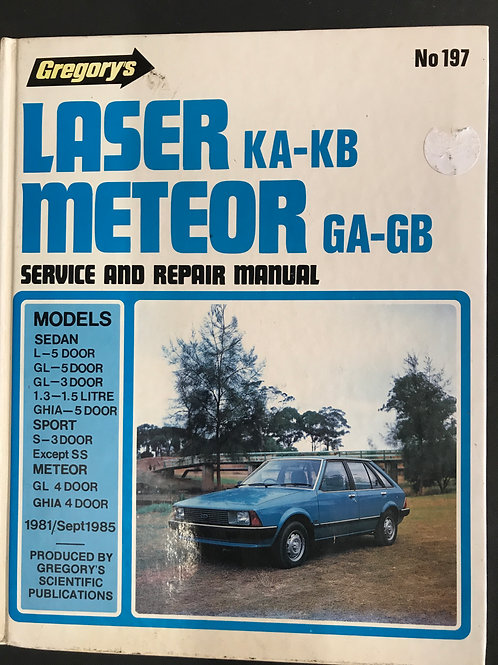 Laser Meteor Service and Repair Manual