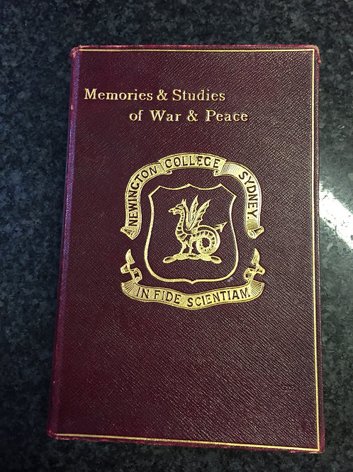 Memories & Studies of War & Peace by Archibald Forbes