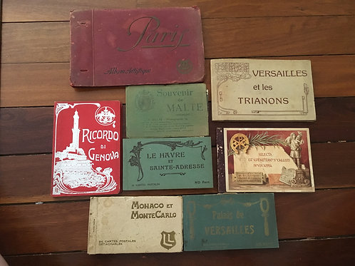 Collection of Old Postcard Books