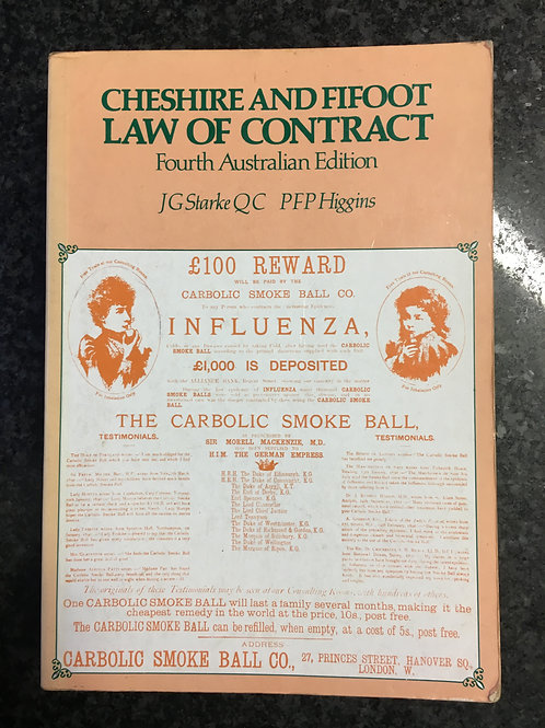 Cheshire and Fifoot law of Contract by Starke & Higgins