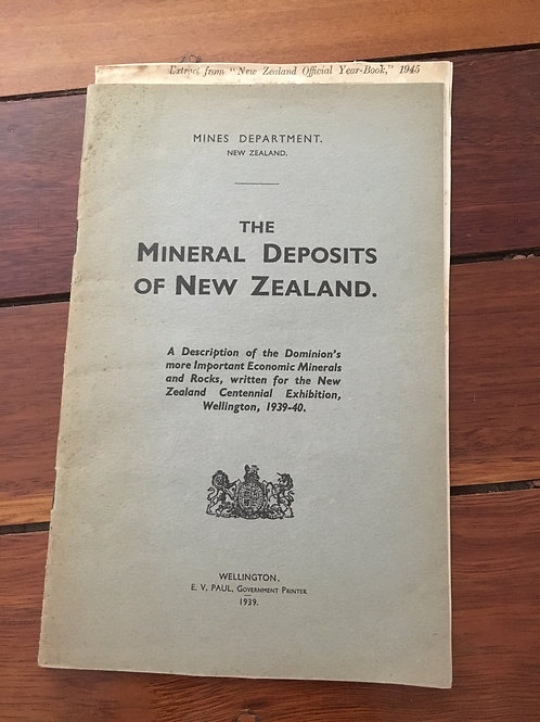 The Mineral Deposits of New Zealand
