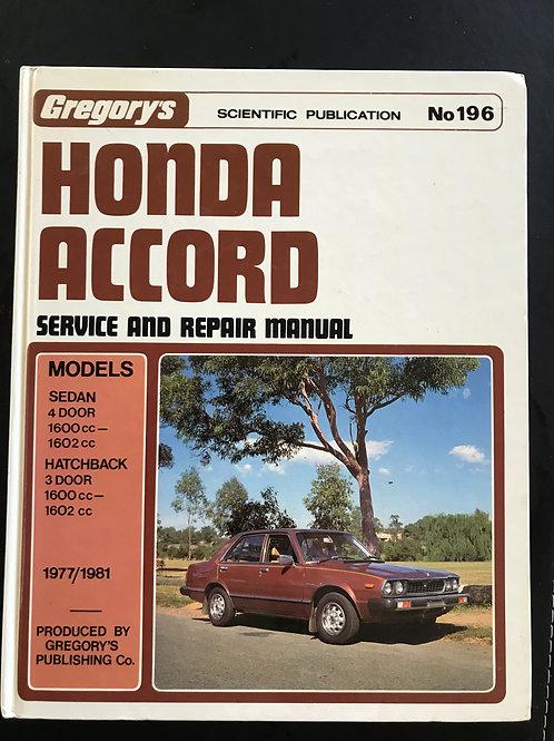 Honda Accord Service and Repair Manual 1977/1981