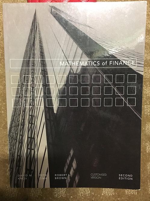 Mathematics of Finance by Knox, Zima, Brown