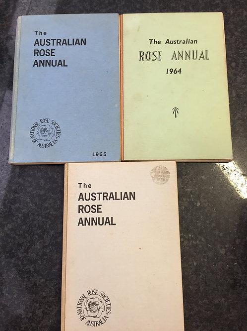 The Australian Rose Annual 1964, 1965, 1967