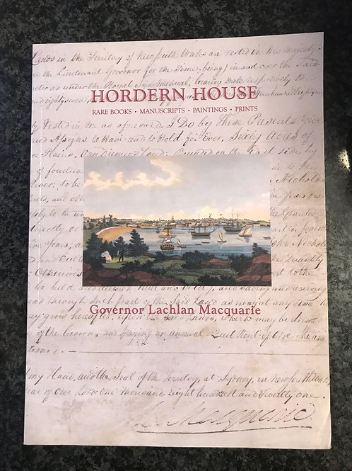 Governor Lachland Macquarie, Hordern House