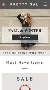 Online Store website templates – Women's Fashion