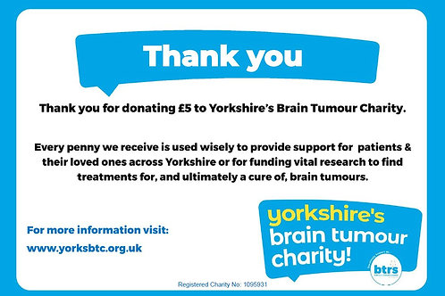 £5.00 Donation to YBTC
