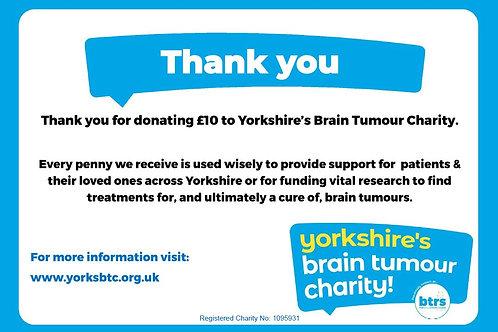 £10.00 Donation to YBTC