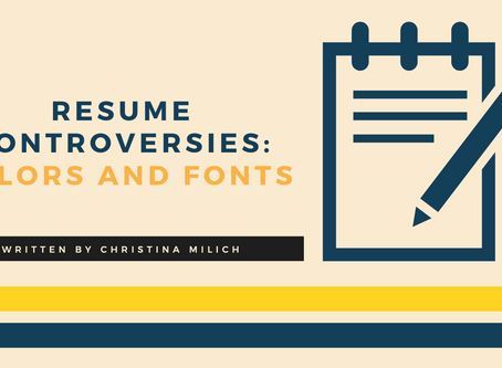 Resume Controversies: Colors and Fonts