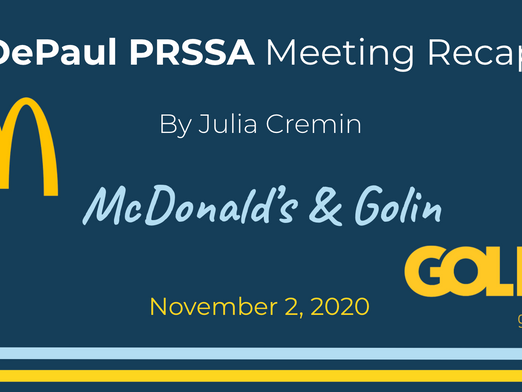 Meeting Recap: McDonald's and Golin