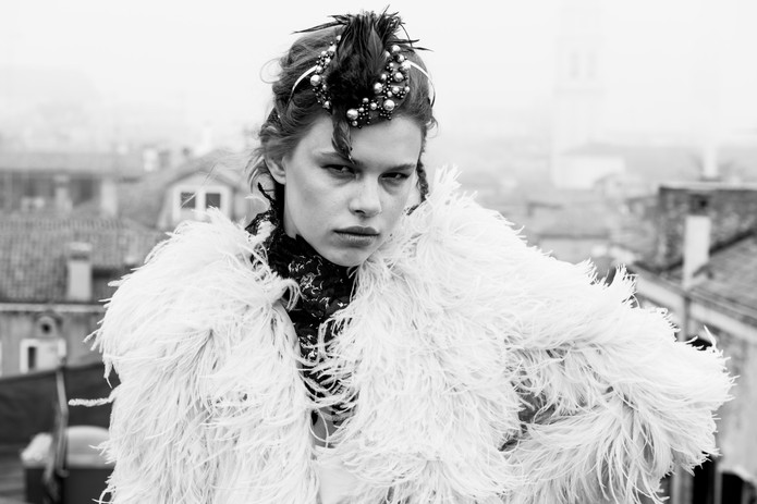 Model: Ninon Hauswirth Fashion: Eva Poleschinski Hair & Makeup: Corinne Falkenheiner Head pieces: Julia Cranz