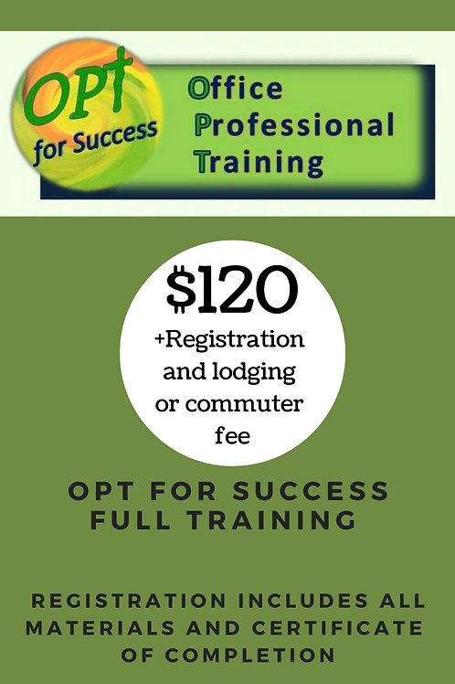 OPT for Success Training - Full