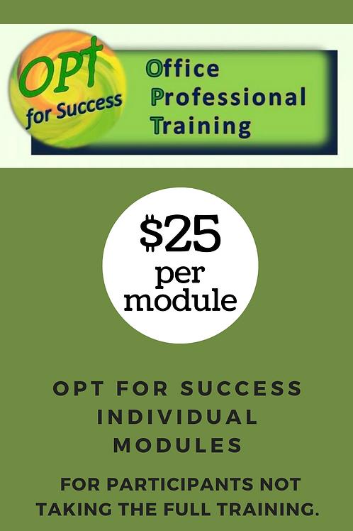 Individual OPT module