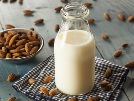How to make fresh almond milk at home.