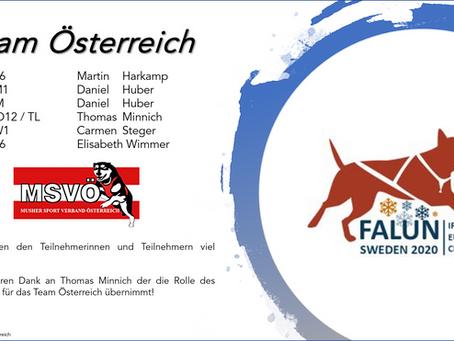 Das Team Österreich IFSS European Championship on snow
