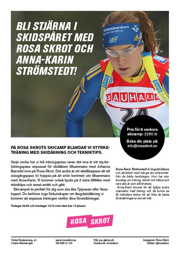 Skicamp med Rosa Skrot och Anna-Karin Strömstedt!