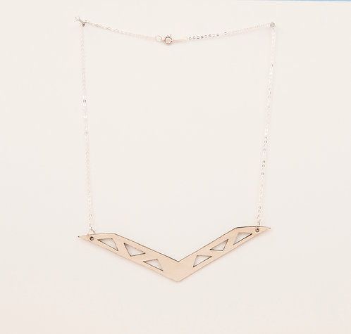 Boomerang Leather Necklace