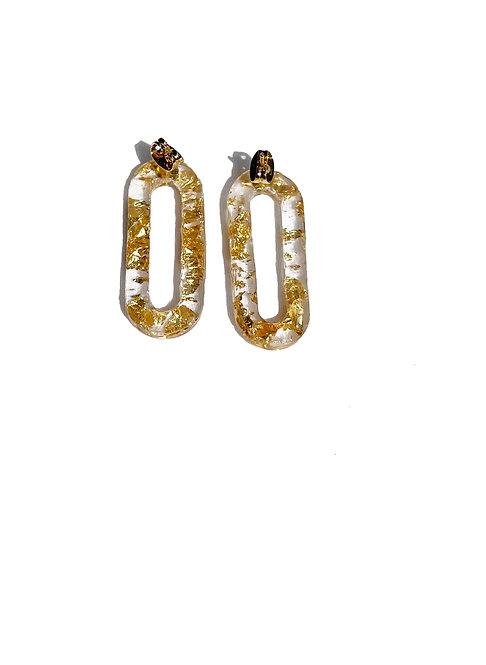 Resin chain earring
