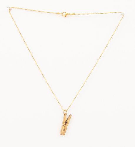 Mini Clothes Pin Necklace