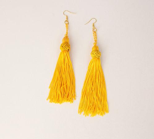 Canary Yellow Tassel Earrings