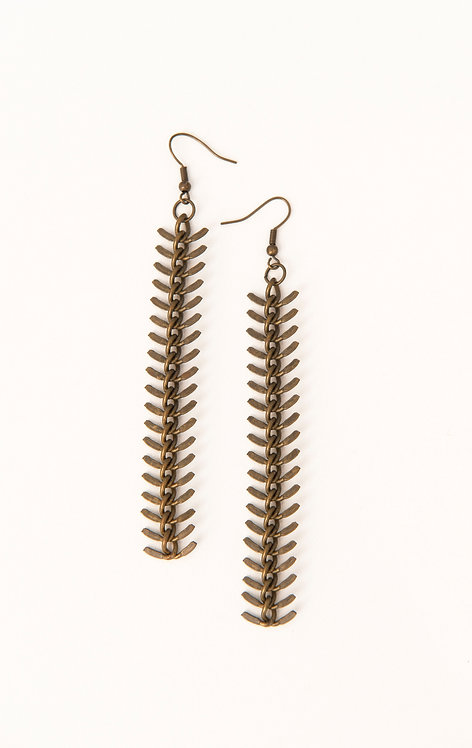 Fishbone Earrings