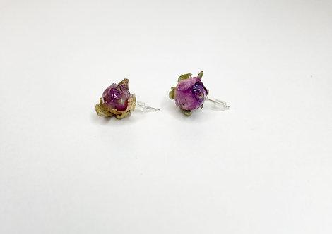 (real) Rose Bud earrings