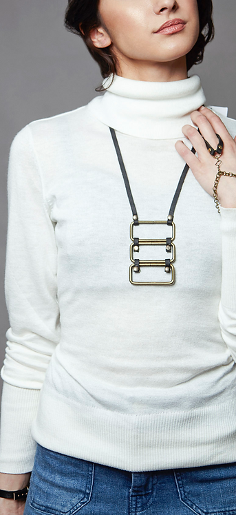Stacked Rectangular Necklace
