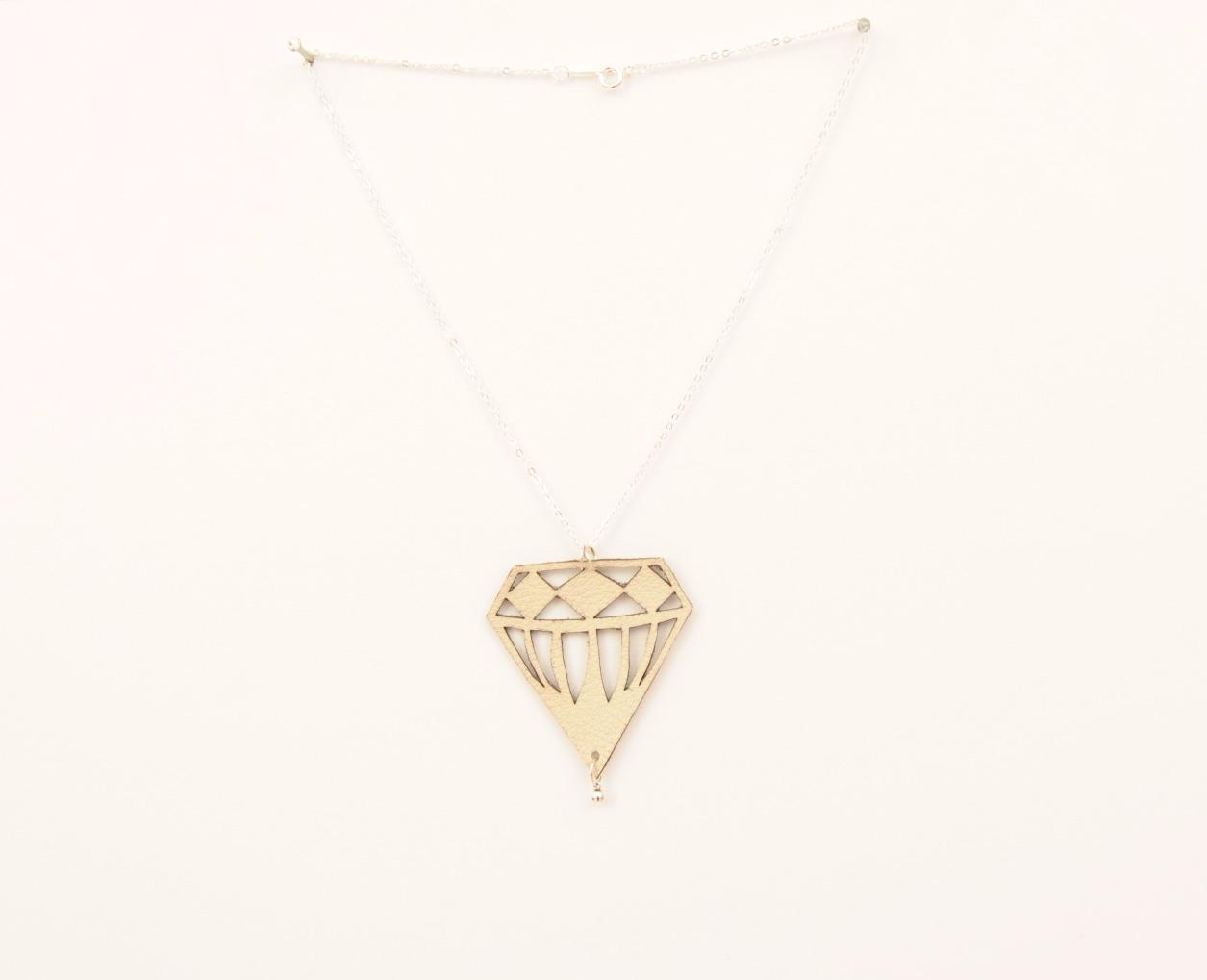 Mini Diamond Leather Necklace