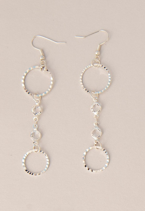 Crystal Drop Hoops