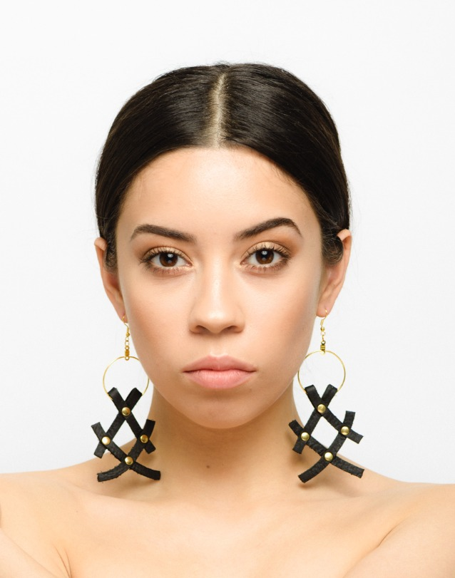 XX Leather Earrings