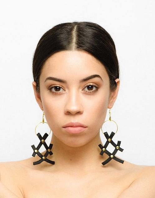XX Leather Earrings