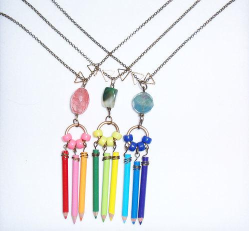 Mini Pencil Crayon Necklace
