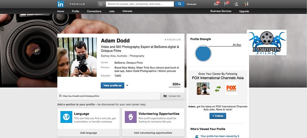 LinkedIn premium profile page
