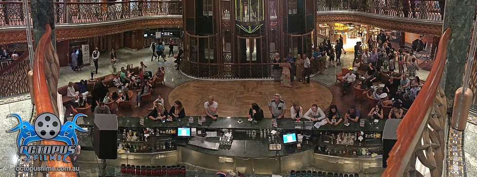 Carnival Spirit atrium panoramic photo