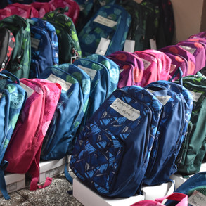 Backpacks ready to be delivered in San Juan (2020)
