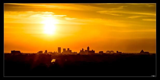 015 Westward Sunset-Memphis Photography-