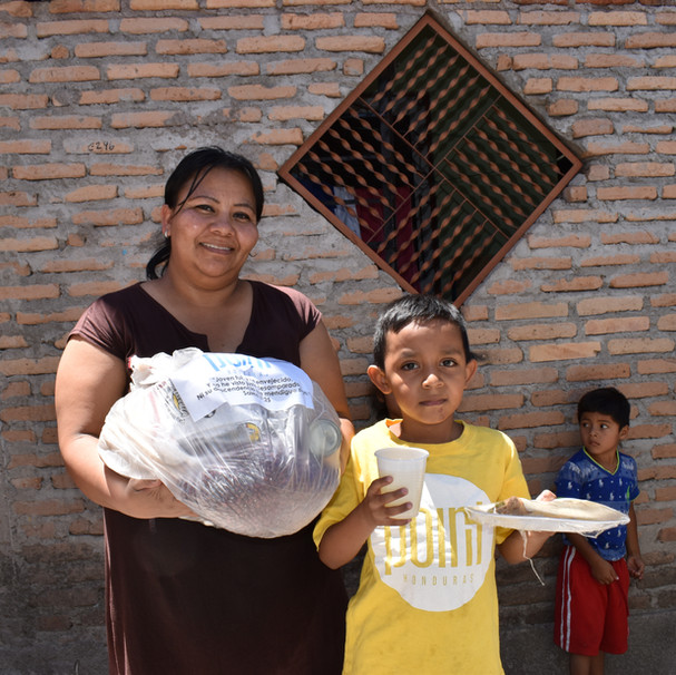 Food bag delivery in Feb. 21 center during COVID-19 pandemic