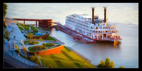 038 Riverboat at dock-Memphis Photograph